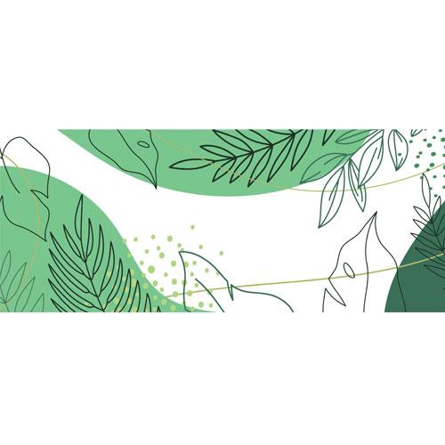Exotic Plants Drawing PVC Party Sign Decoration 60cm x 25cm