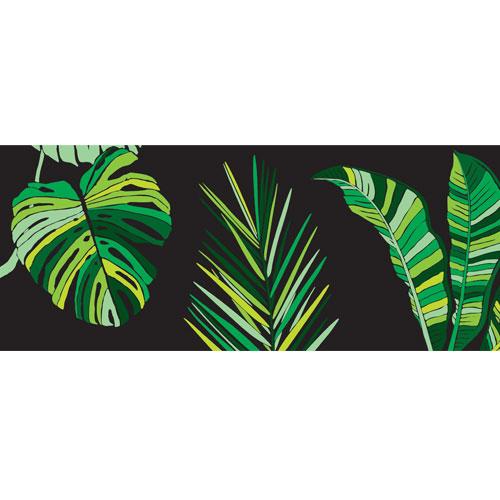 Jungle Leaves PVC Party Sign Decoration 60cm x 25cm