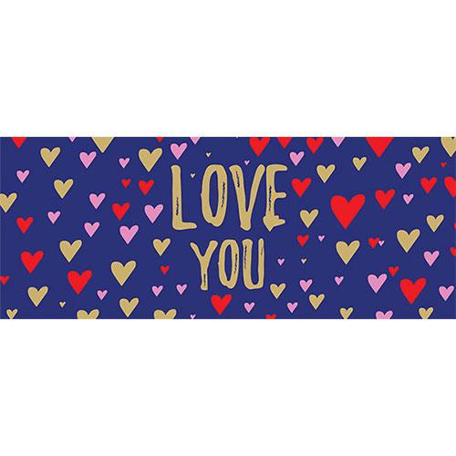 Love You Navy Valentines PVC Party Sign Decoration 60cm x 25cm