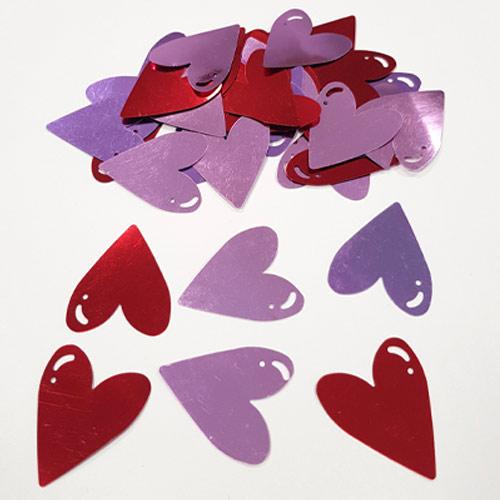 Valentine's Jumbo Foil Heart Confetti Table Decorations 14 Grams