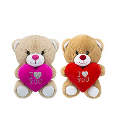 Assorted Teddy Bear with Love Heart Soft Toy