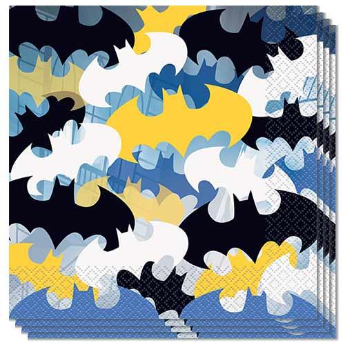 Batman Luncheon Napkins 33cm 2Ply - Pack of 16