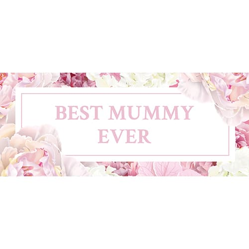 Best Mummy Ever Pastel Mother's Day PVC Party Sign Decoration 60cm x 25cm