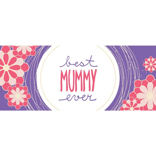 Best Mummy Ever Purple Mother's Day PVC Party Sign Decoration 60cm x 25cm