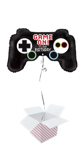 Game Controller Birthday Helium Foil Giant Balloon - Inflated Balloon in a Box