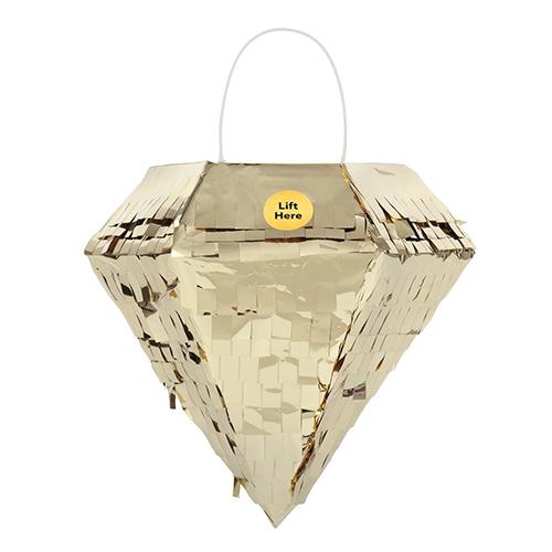 Gold Foil Diamond Mini Pinata Decoration 15cm