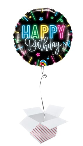 helium Filled Gaming Happy Birthday Balloons Inflated In A Box