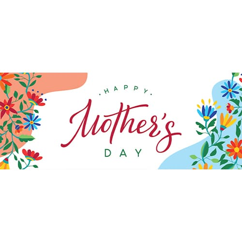 Happy Mother's Day Colourful PVC Party Sign Decoration 60cm x 25cm