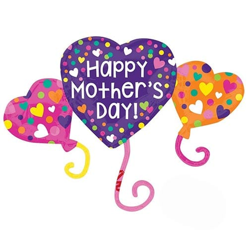 Happy Mother's Day Trio Helium Foil Giant Balloon 96cm / 38 in