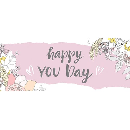 Happy You Day PVC Party Sign Decoration 60cm x 25cm