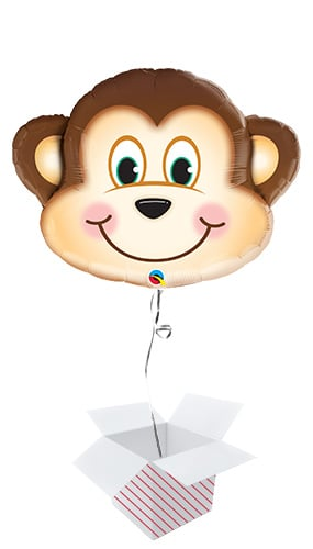 Mischievous Monkey Helium Foil Giant Qualatex Balloon - Inflated Balloon in a Box