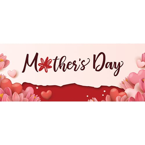 Mother's Day Hearts PVC Party Sign Decoration 60cm x 25cm