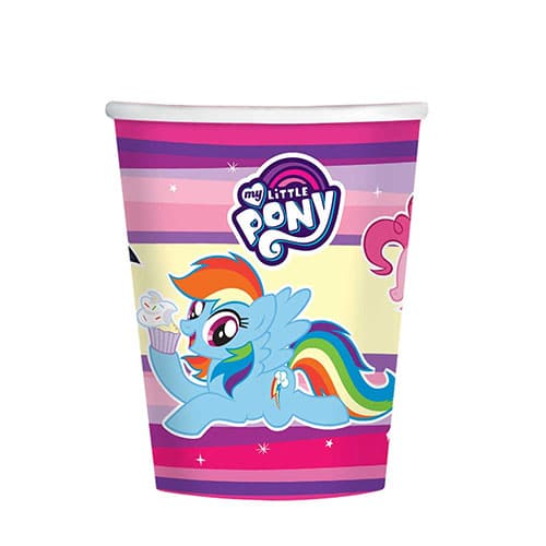 My Little Pony Paper Cups 250ml - Pack of 8