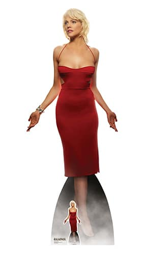 Number Six Red Dress Tricia Helfer Battlestar Galactica Lifesize Cardboard Cutout 180cm