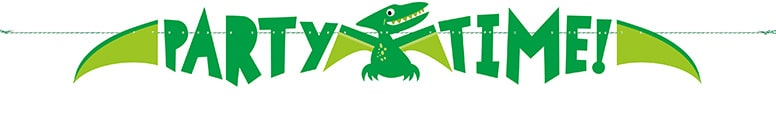 Party Time Dinosaur Paper Banner 150cm