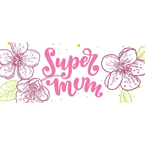 Super Mum Mother's Day PVC Party Sign Decoration 60cm x 25cm