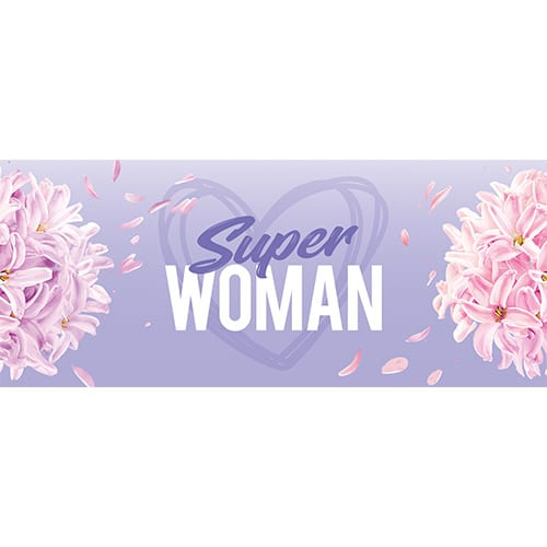 Super Woman PVC Party Sign Decoration 60cm x 25cm