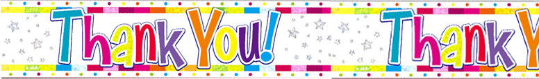 Bright Thank You Holographic Foil Banner 2.7m