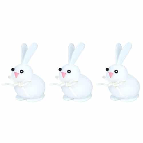 Easter Bunnies Decorations 4cm - Pack of 3
