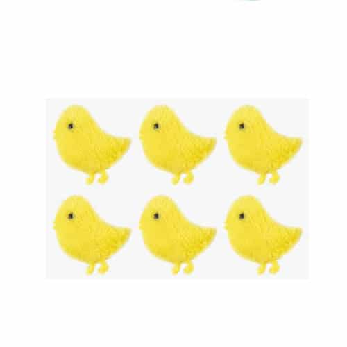 Easter Chick Felt Stickers 4cm - Pack of 6
