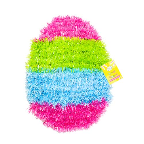 Easter Egg Tinsel Wall Plaque Hanging Decoration 31cm