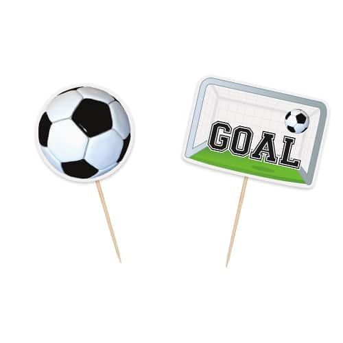 Football Cake Toppers - Pack of 6